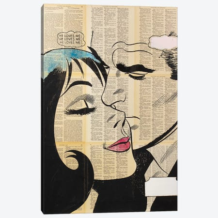 Retro Lovers II Canvas Print #DSU95} by Dane Shue Canvas Art Print