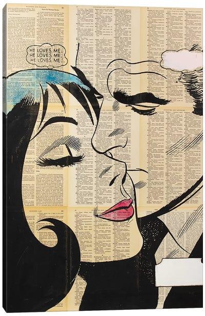 Retro Lovers II Canvas Art Print