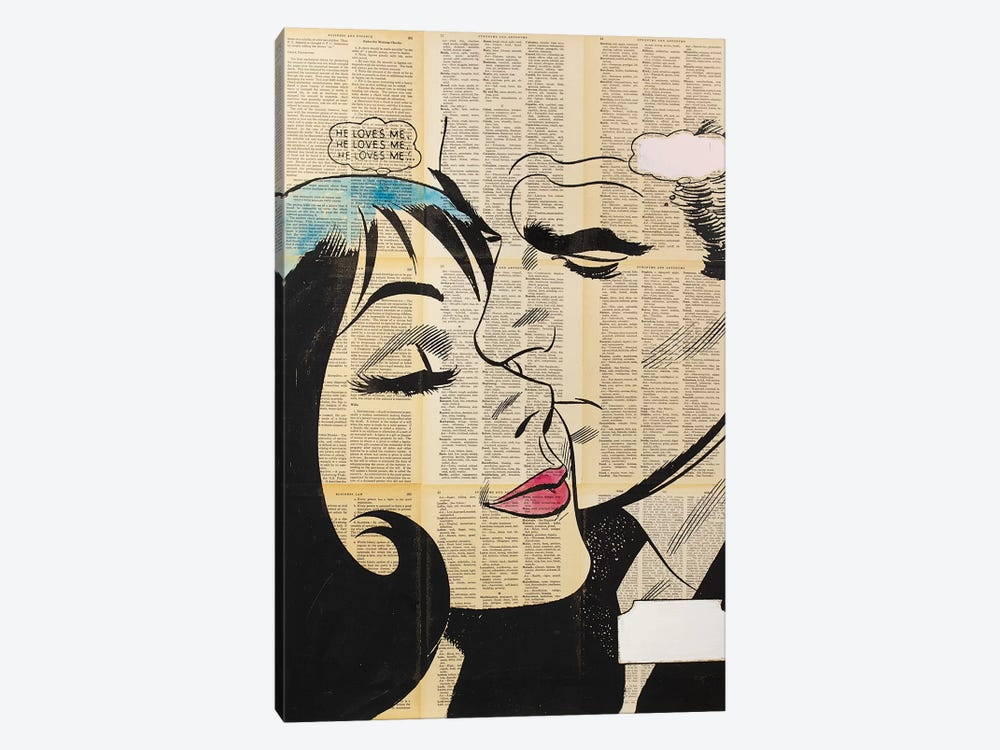 Retro Lovers II by Dane Shue 1-piece Canvas Art