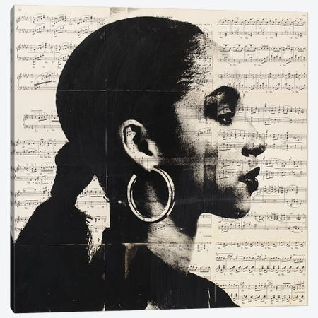 Sade - Music Notes Canvas Print #DSU98} by Dane Shue Canvas Art