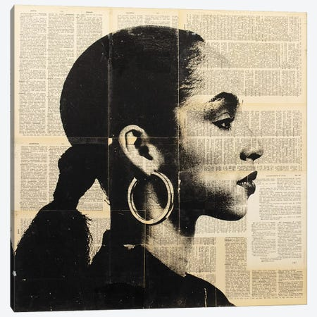 Sade - Newspaper Canvas Print #DSU99} by Dane Shue Canvas Art