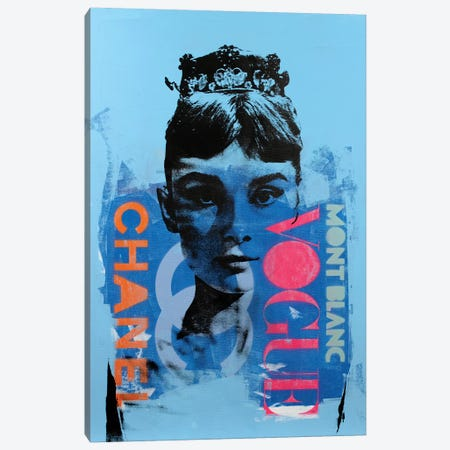 Audrey Hepburn Canvas Print #DSU9} by Dane Shue Canvas Art Print