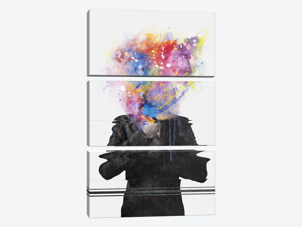 Glitch Mob by Dániel Taylor 3-piece Canvas Artwork