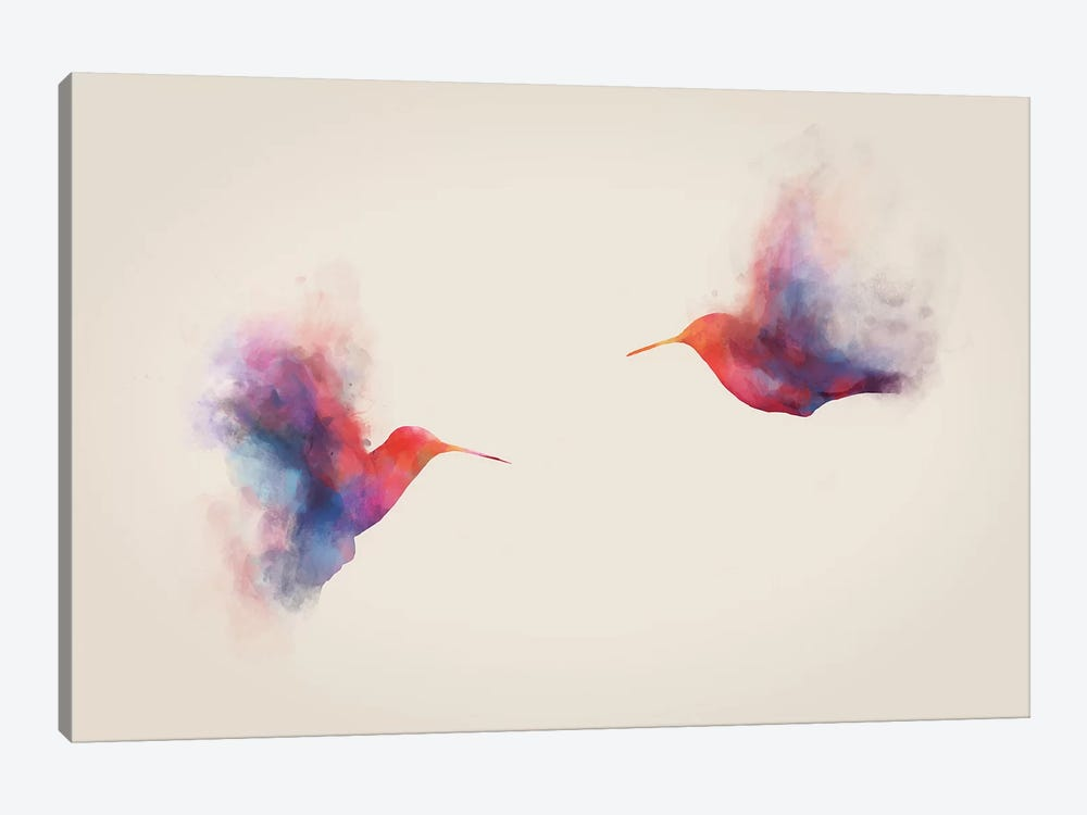Hummingbirds by Dániel Taylor 1-piece Canvas Wall Art