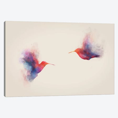 Hummingbirds Canvas Print #DTA22} by Dániel Taylor Canvas Wall Art