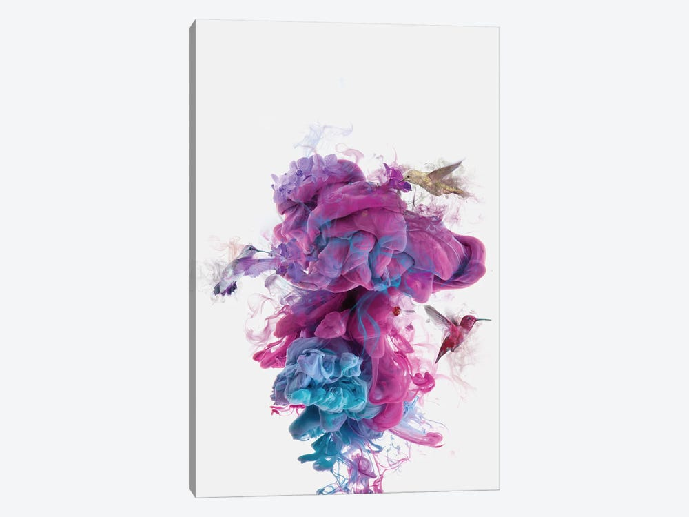 Hummingbirds Ink by Dániel Taylor 1-piece Canvas Print