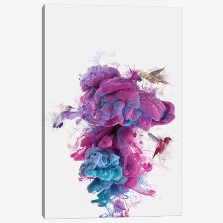 Hummingbirds Ink Canvas Print #DTA23} by Dániel Taylor Canvas Art
