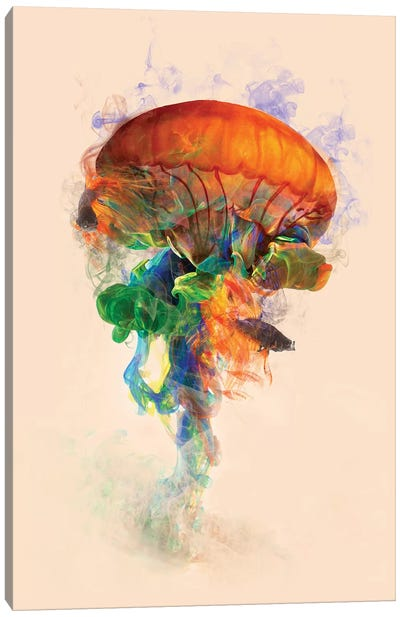 Jellyfish Ink Canvas Art Print