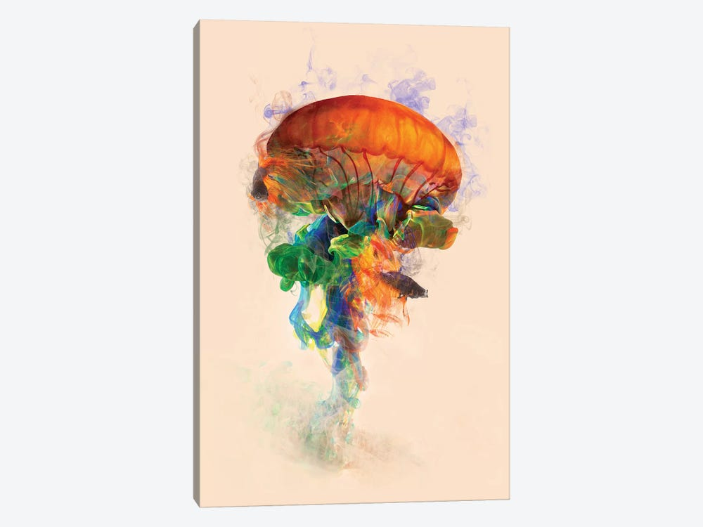 Jellyfish Ink 1-piece Canvas Wall Art