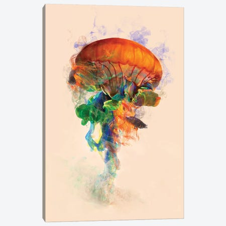 Jellyfish Ink Canvas Print #DTA26} by Dániel Taylor Canvas Art Print