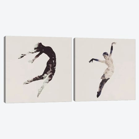 Float Away Diptych Canvas Print Set #DTA2HSET001} by Dániel Taylor Canvas Artwork