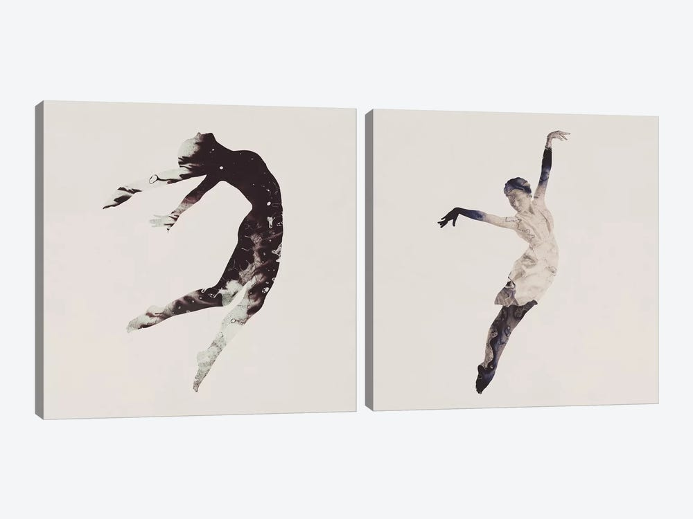 Float Away Diptych by Dániel Taylor 2-piece Canvas Art