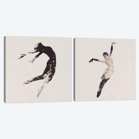 Float Away Diptych Canvas Print Set #DTA2HSET001} by Dániel Taylor Canvas Artwork