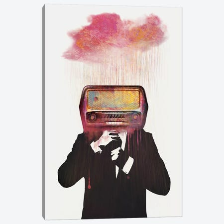 Radiohead Canvas Print #DTA36} by Dániel Taylor Canvas Artwork