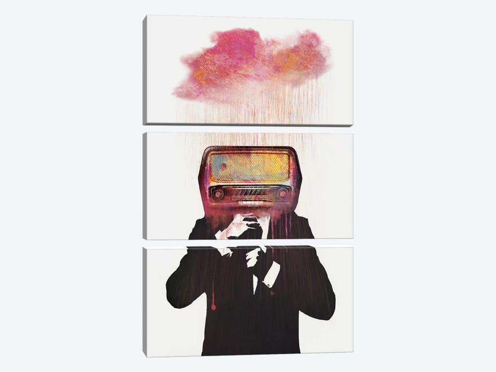 Radiohead by Dániel Taylor 3-piece Canvas Print