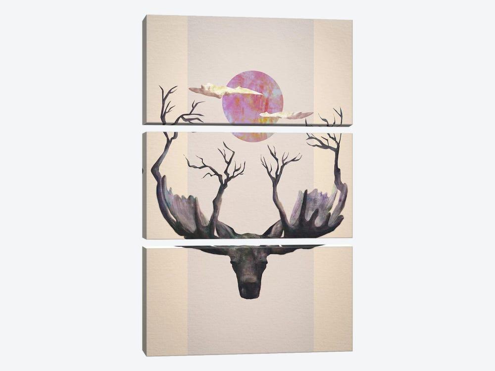 Reborn by Dániel Taylor 3-piece Canvas Art