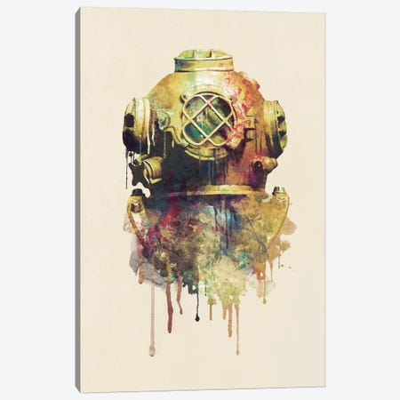 The Diver Canvas Print #DTA44} by Dániel Taylor Art Print