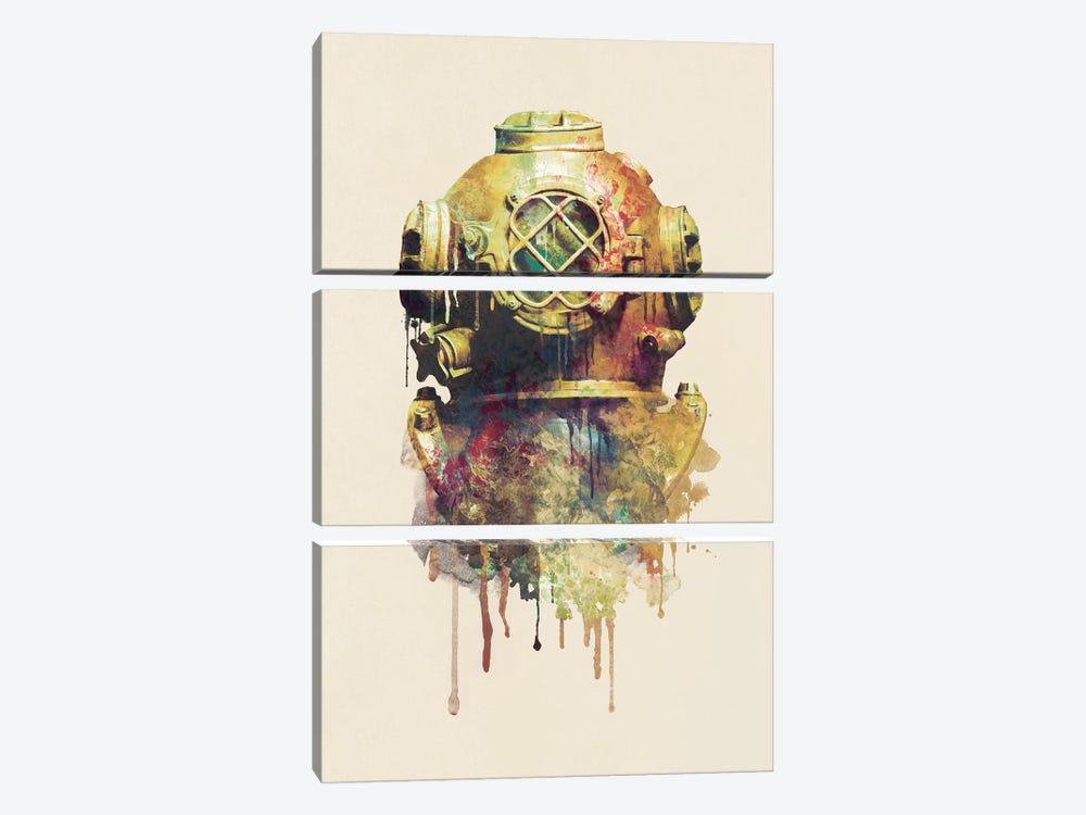 The Diver by Dániel Taylor 3-piece Canvas Art