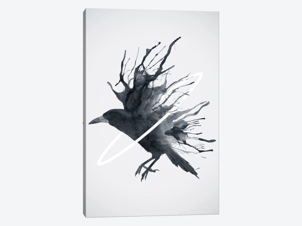Crow by Dániel Taylor 1-piece Canvas Art
