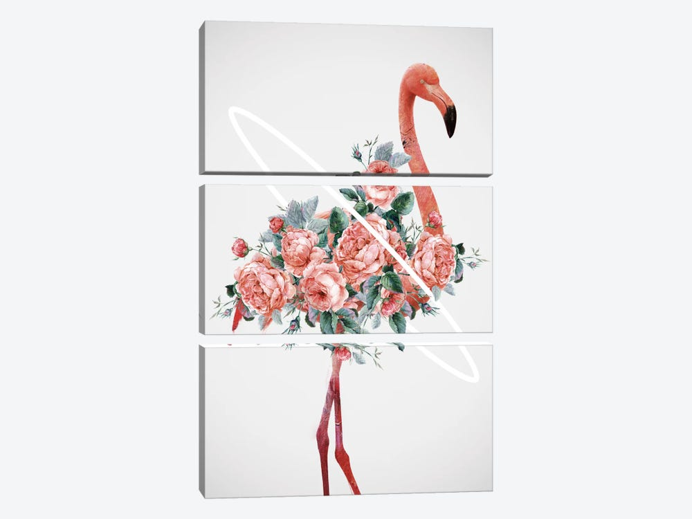 Flamingo by Dániel Taylor 3-piece Canvas Art