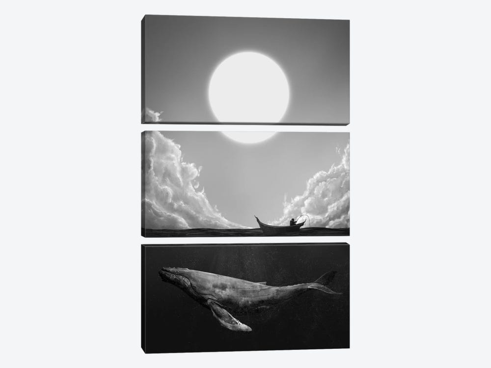 The Traveler by Dániel Taylor 3-piece Canvas Print