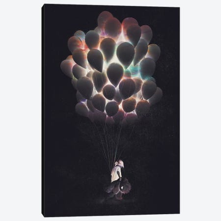 Balloons Canvas Print #DTA82} by Dániel Taylor Canvas Wall Art