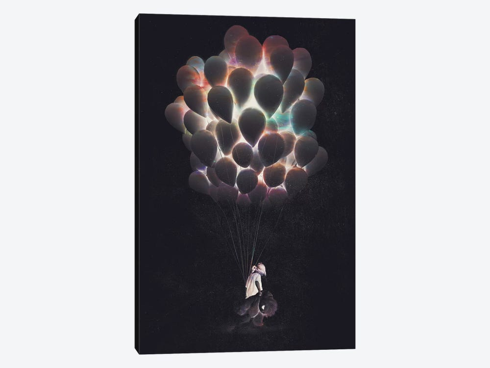 Balloons by Dániel Taylor 1-piece Canvas Wall Art