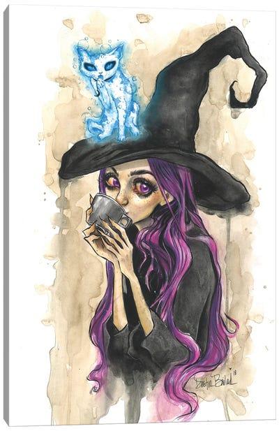 Violet And Moonjax Cat Canvas Art Print