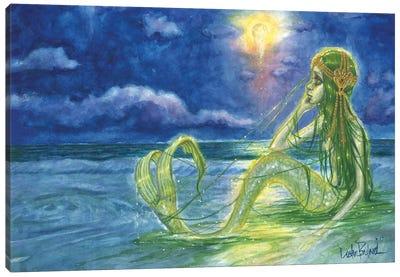Moonbathing Canvas Art Print