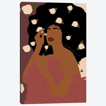 Flower Queen Canvas Print #DTD12} by Destiny Darcel Canvas Artwork