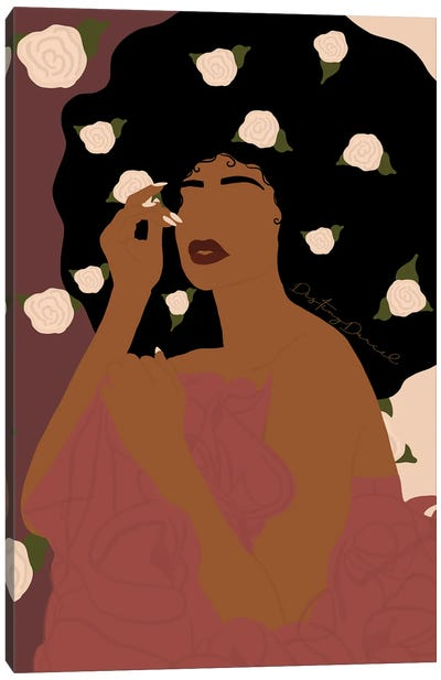 Flower Queen Canvas Art Print