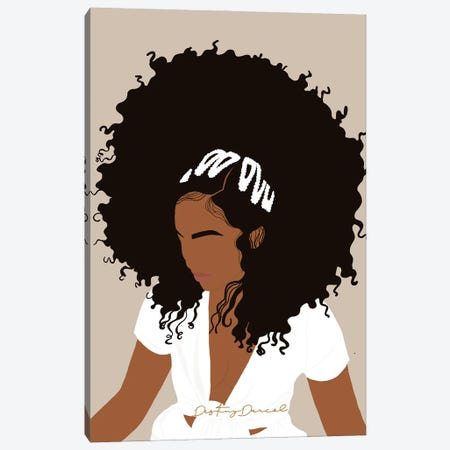 Afro Day Canvas Print #DTD18} by Destiny Darcel Canvas Wall Art