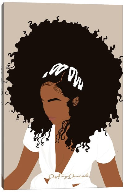 Afro Day Canvas Art Print