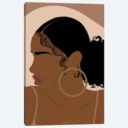 Baby Hair Canvas Print #DTD21} by Destiny Darcel Canvas Art Print