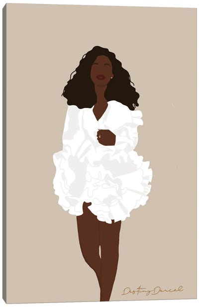 Black Girling Canvas Art Print