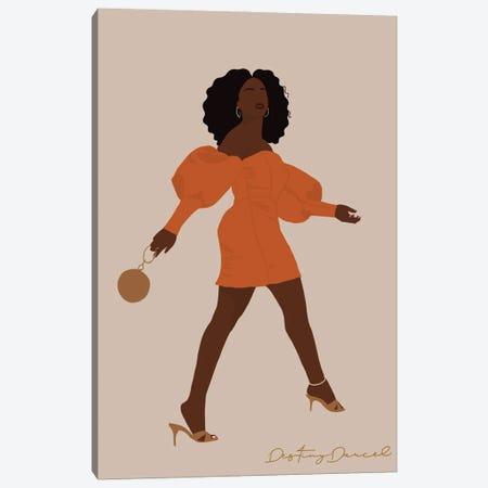 Black Woman Strut Canvas Print #DTD30} by Destiny Darcel Canvas Artwork