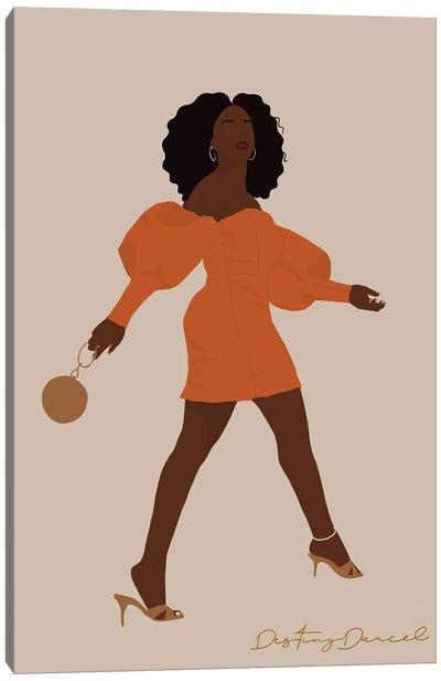 Black Woman Strut Canvas Art Print