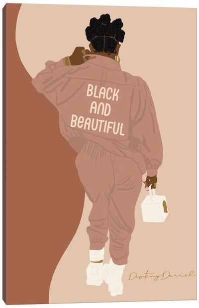 Black And Beautiful Canvas Art Print