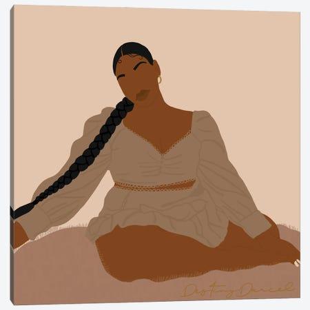 Black Woman Canvas Print #DTD33} by Destiny Darcel Canvas Art