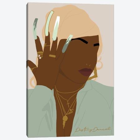 Icy Auntie Canvas Print #DTD37} by Destiny Darcel Art Print