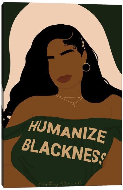 Humanize Blackness Canvas Art Print