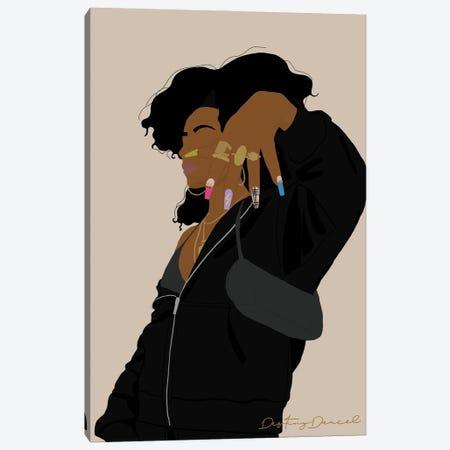 Nails Long Af. Black Af. Canvas Print #DTD51} by Destiny Darcel Canvas Art