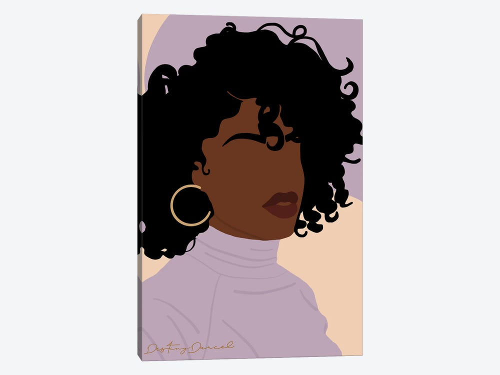 Perfect Hair Day by Destiny Darcel 1-piece Canvas Art