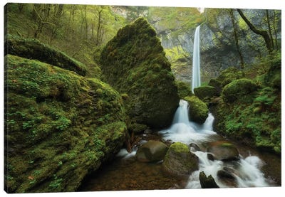 Mystic Waterfall Canvas Art Print