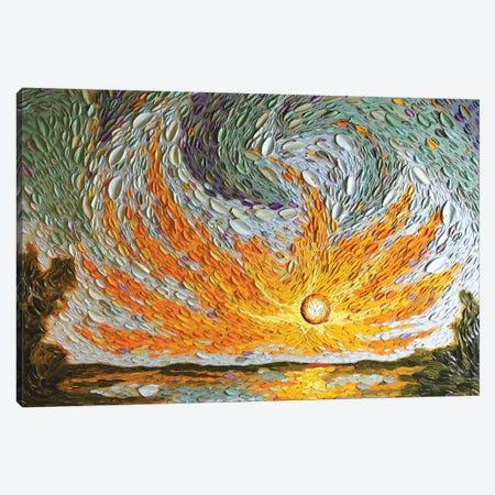 Jacob's Sky  Canvas Print #DTO12} by Dena Tollefson Art Print