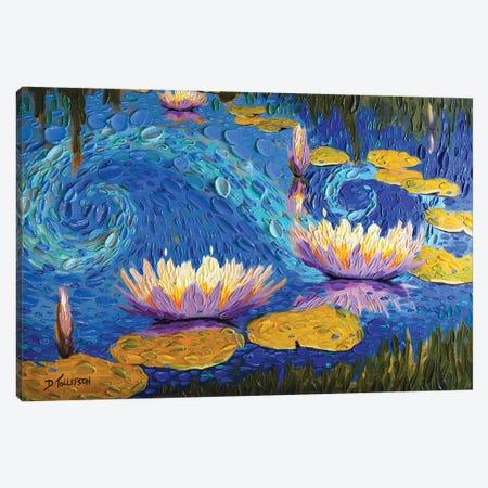 Lilac Lily Pond  Canvas Print #DTO15} by Dena Tollefson Canvas Art