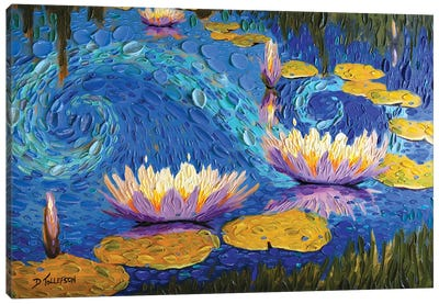 Lilac Lily Pond  Canvas Art Print