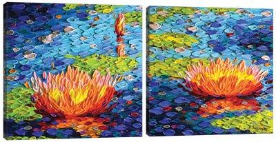 Love's Diptych Canvas Art Print