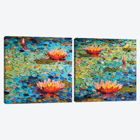Summertime Beauty Diptych Canvas Print Set #DTO2HSET002} by Dena Tollefson Canvas Art