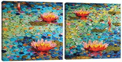 Summertime Beauty Diptych Canvas Art Print